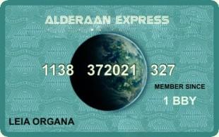 Alderaan Express Card