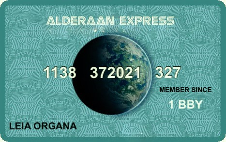 Alderaan Express Card