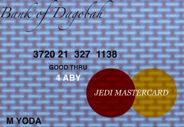 Jedi MasterCard