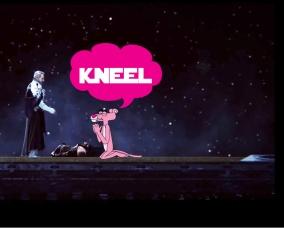 PinkPantherKneel