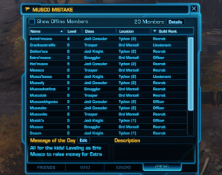 The Musco Mistake Guild Roster