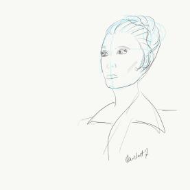 Leia The Force Awakens sketch