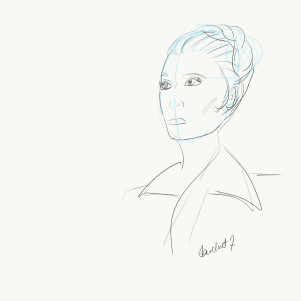 Leia The Force Awakens sketch