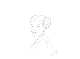 Leia A New Hope sketch