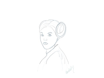 Leia A New Hope sketch