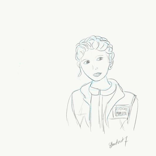 Leia Empires Strikes Back sketch