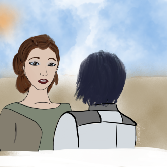 Rebels Leia and Ezra