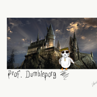Porg/Potter Crossover